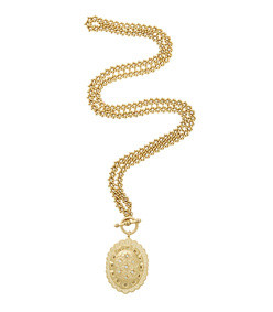 almost famous 24k gold-plated crystal necklace