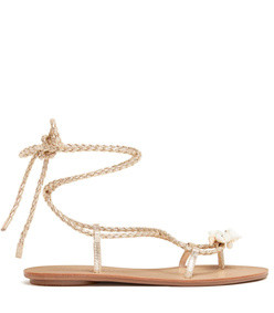 shelly wrap shell sandals