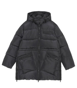 oversized recycled tech puffer jacket