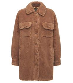 sabi faux fur teddy shirt jacket