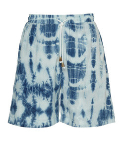 doxxi tie-dyed cotton shorts