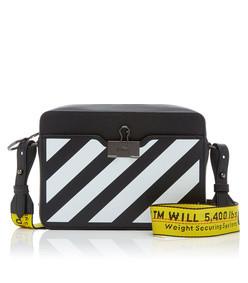 diagonal leather camera bag