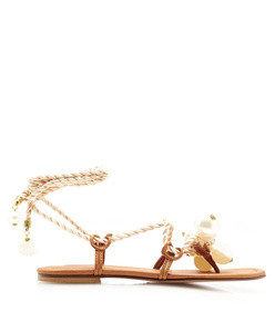 ariel embellished leather sandals