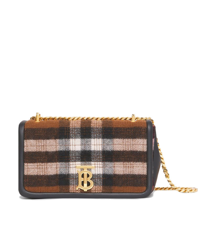 small quilted check cashmere lola bag