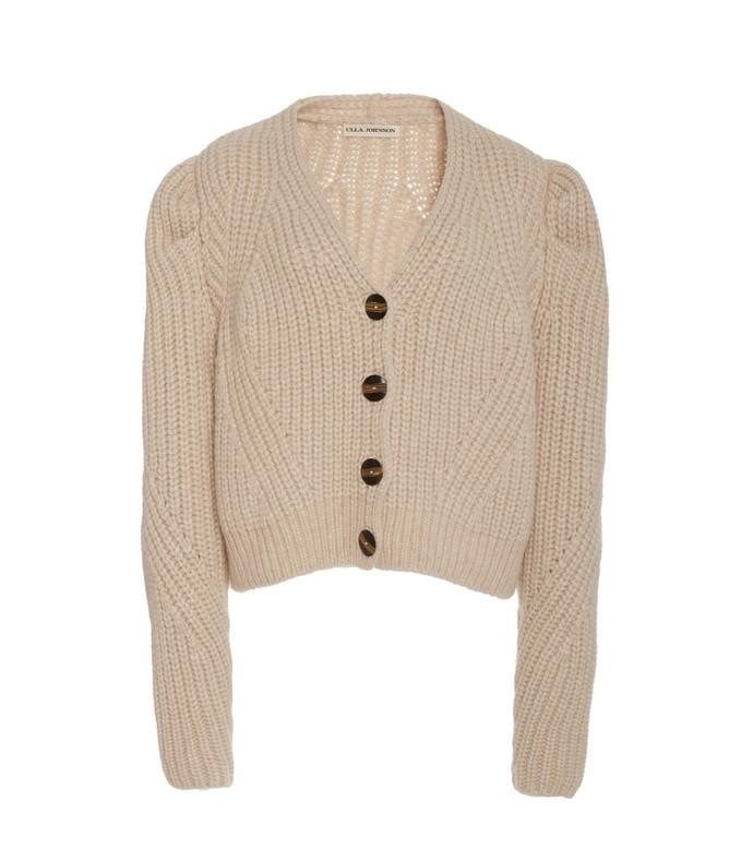 greta knit alpaca-blend cardigan