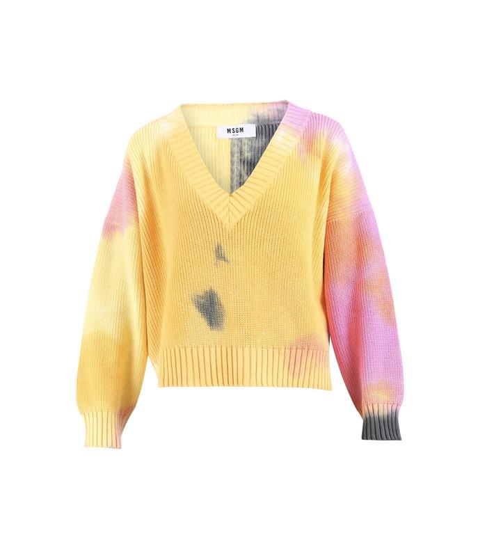 tie-dye knitted sweater