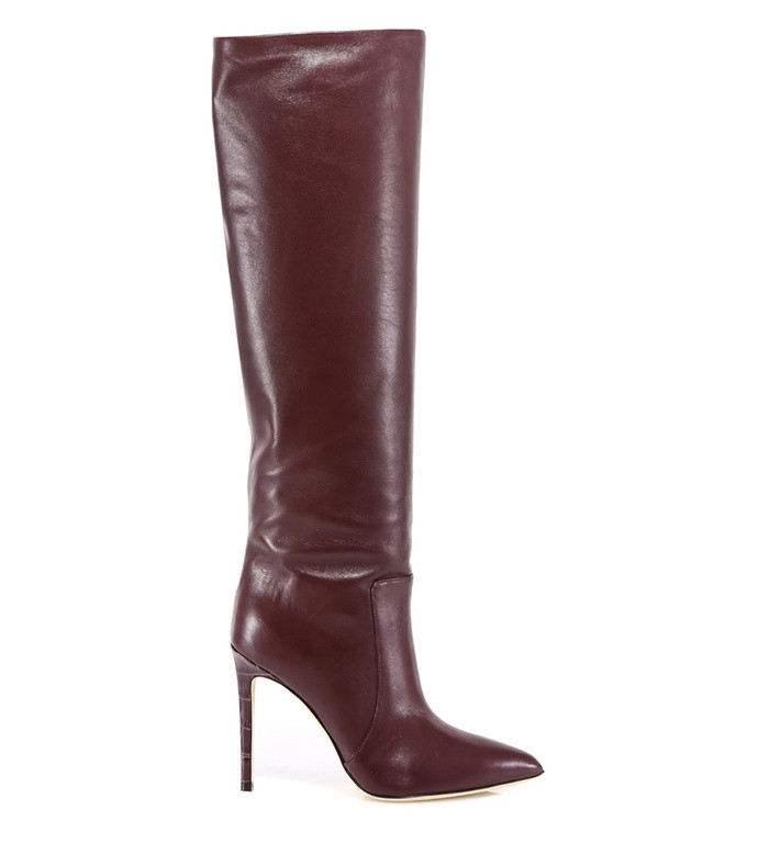 knee-length pointed toe boots