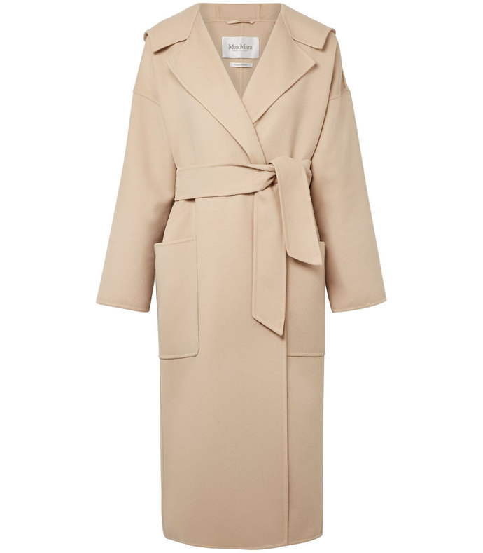 hooded wool and cashmere-blend coat