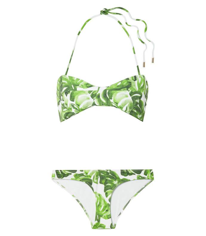 kali printed halterneck bikini