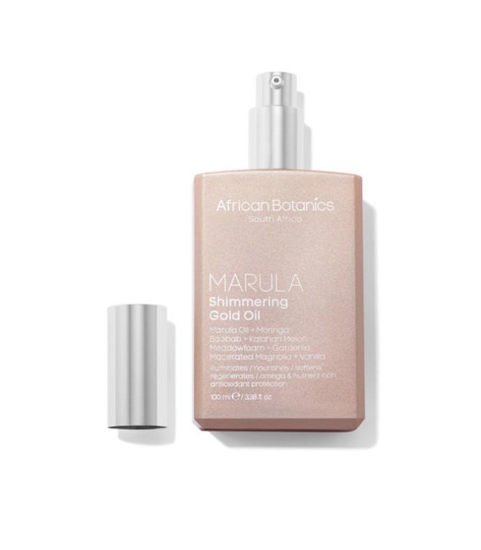 marula shimmering gold oil