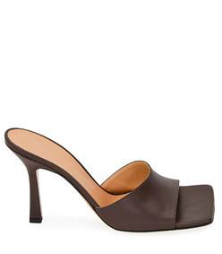 square-toe open mules