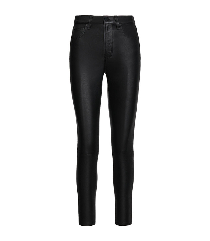 leenah high-rise ankle skinny in leather