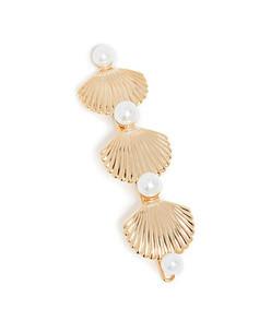 linear pearl & shell barrette