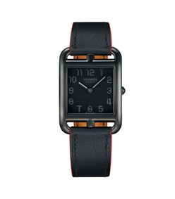 cape cod gm matte black leather strap watch