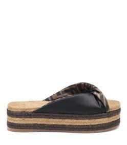 satin platform espadrille sandals