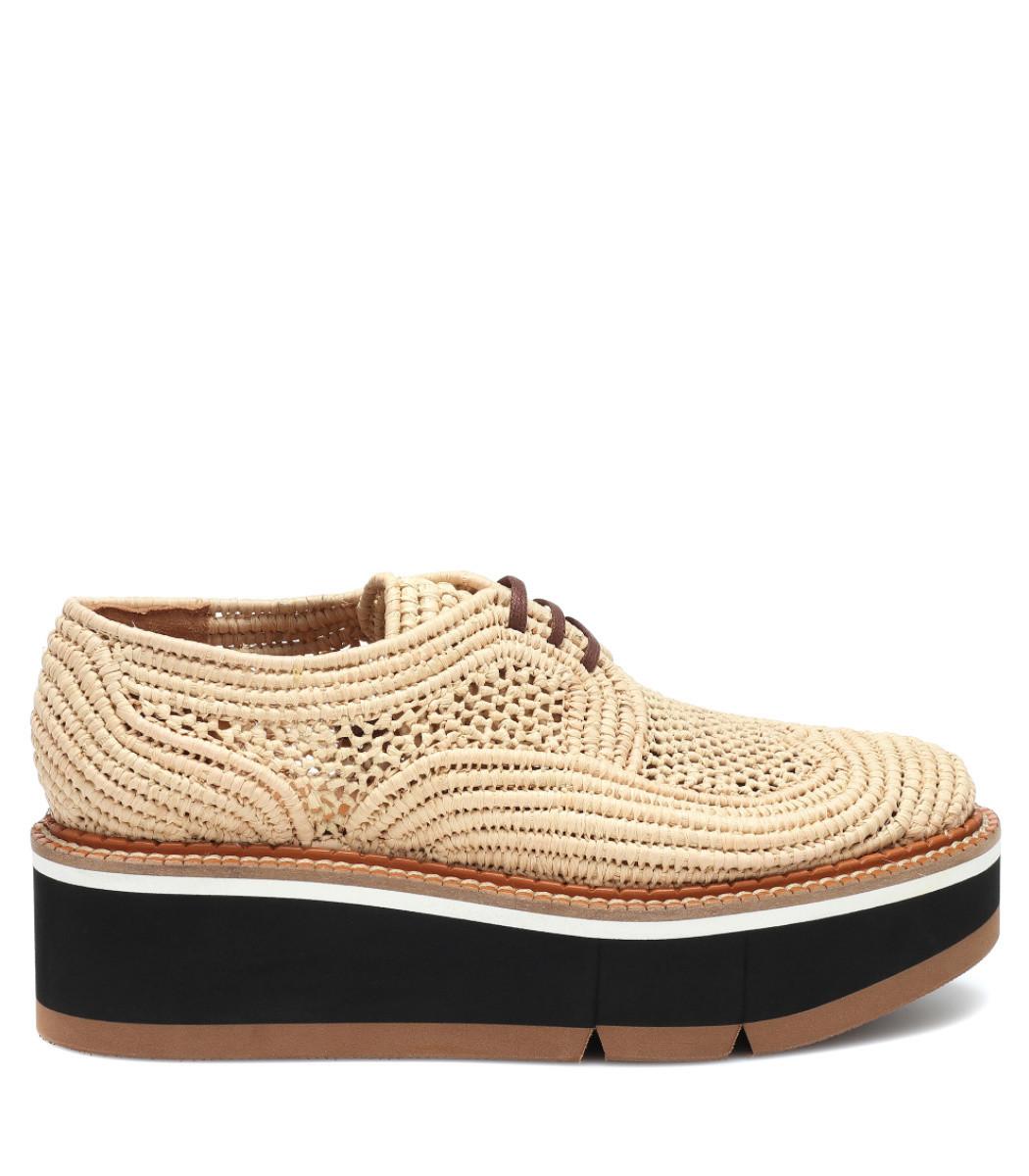 8135251c896c Clergerie Acajou Raffia Platform Oxford Shoes - ShopBAZAAR