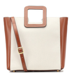 shirley canvas and leather tote