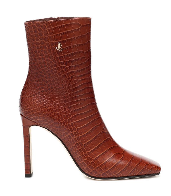 minori 100 mock-croc leather boots