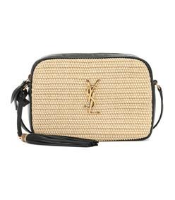 lou camera raffia crossbody bag