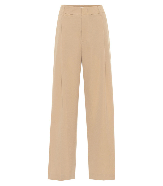 high-rise crépe wide-leg pants