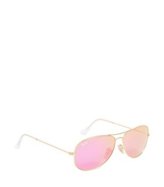 mirrored shrunken aviator sunglasses