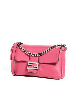 pink nappa micro baguette bag