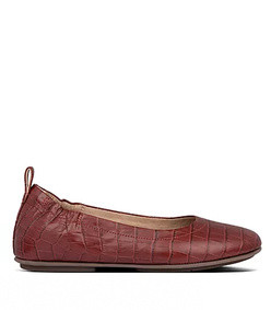allegro croc-embossed leather ballet flats