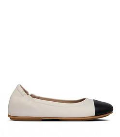 allegro leather toe-cap ballet flats