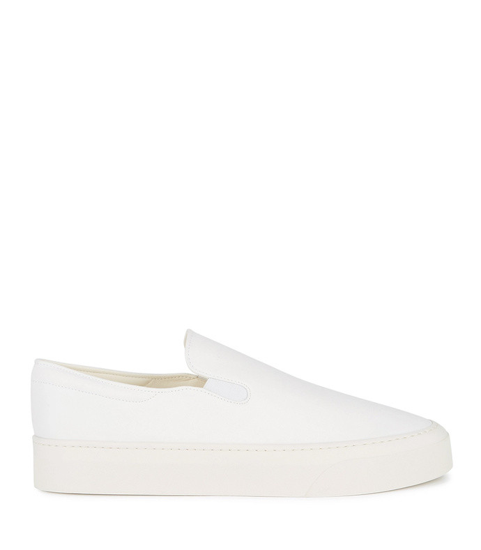 marie white canvas flatform sneakers