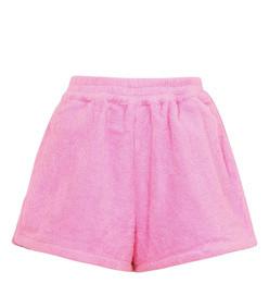 santa monica pink terrycloth shorts