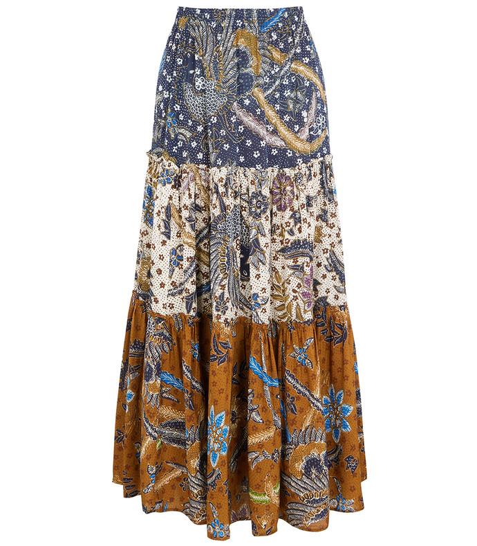 melanie printed voile maxi skirt