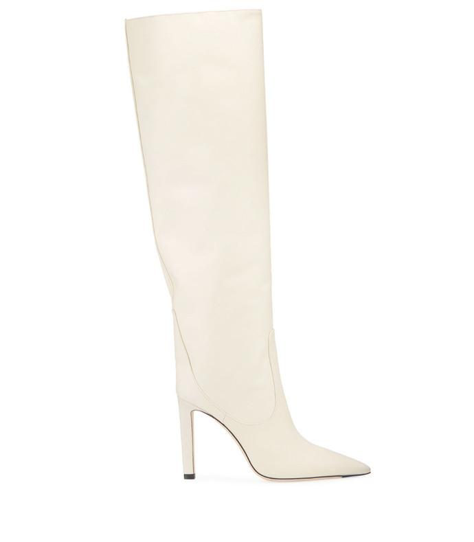 mavis 100mm leather knee boots