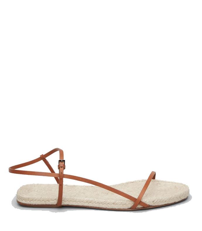 bare espadrille sandals