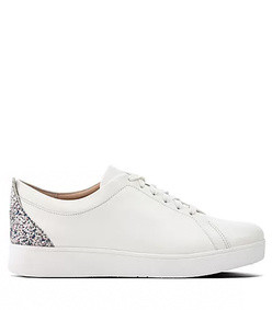 rally glitter leather sneakers