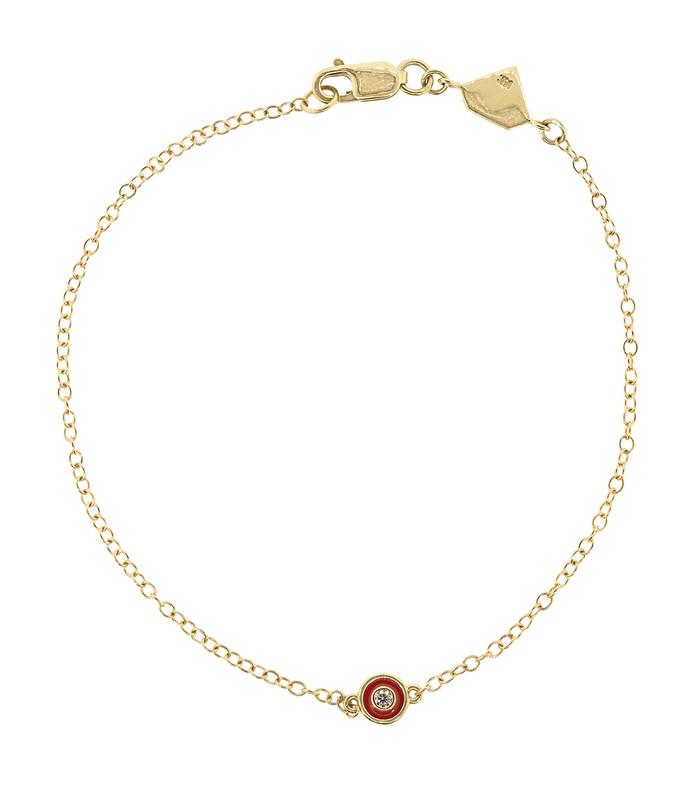 red enamel and diamond bracelet