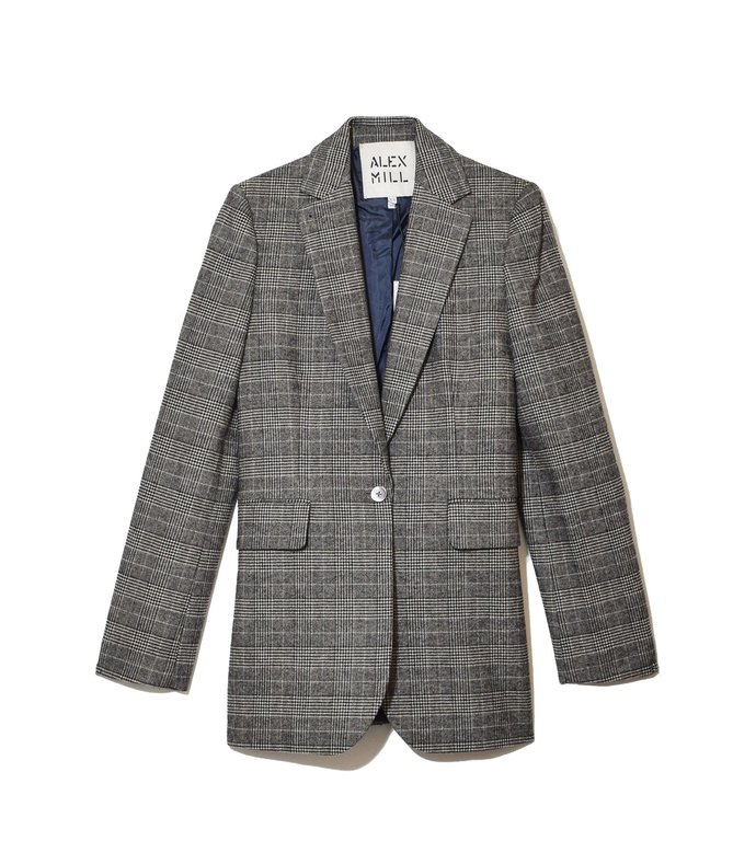 glenplaid ryder blazer in black/white