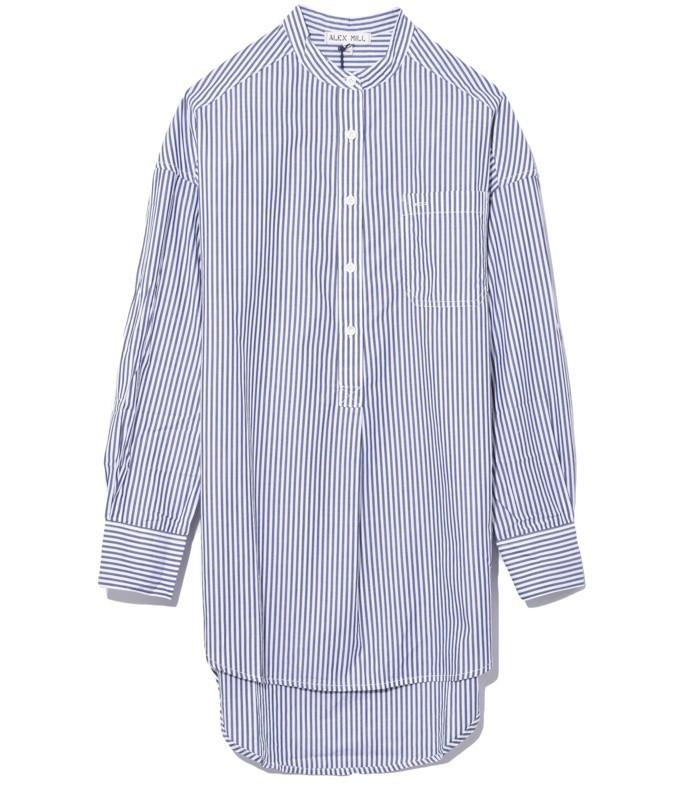 popover tunic bi stripes in royal blue/white