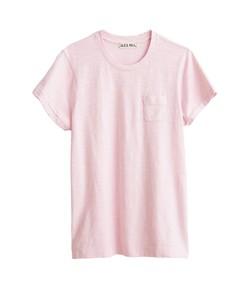 slub pocket tee in light pink