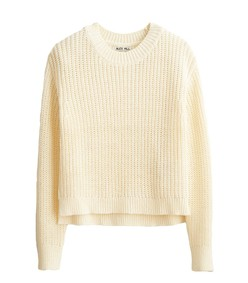 solid sweater in natural