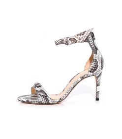 asymmetric clarita exotic sandal in natural