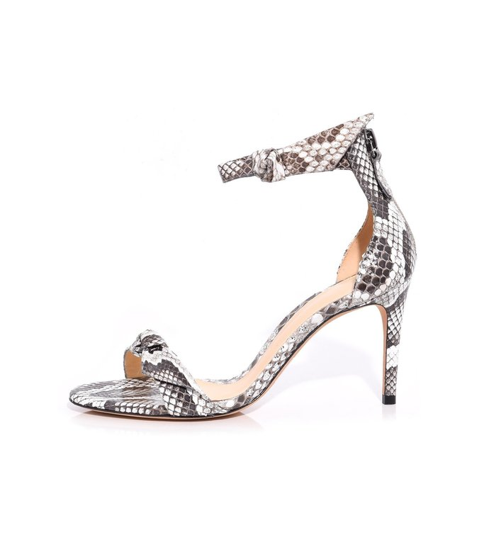 asymmetric clarita exotic sandal in natural