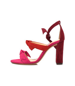 raspberry/flame/rosewood lolita block sandal