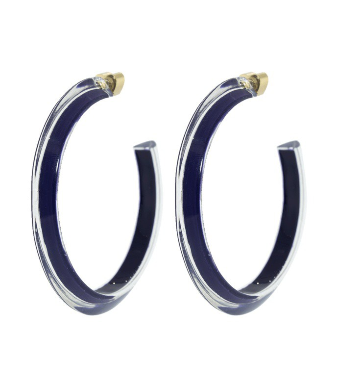 medium navy loucite jelly hoops