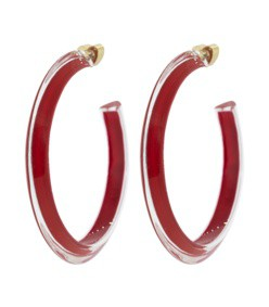 medium red loucite jelly hoops