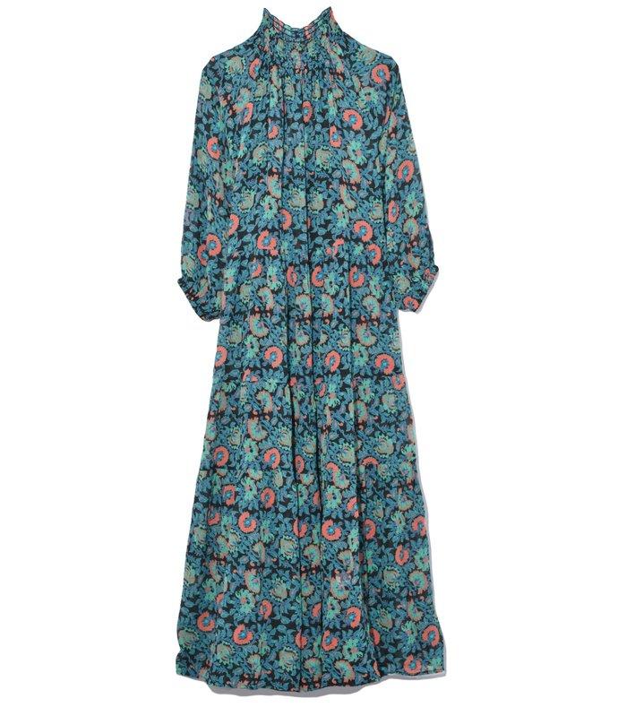 dubrovnik tiered dress in avignon floral black