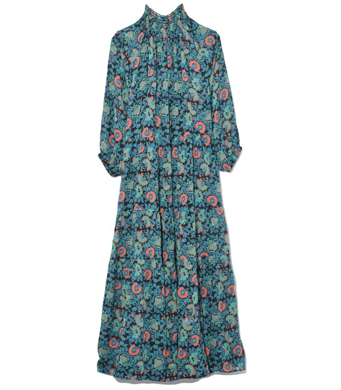 dubrovnik tiered dress in avignon floral black
