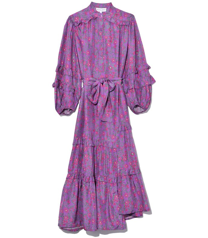 gracia flamenca dress in potpourri plum