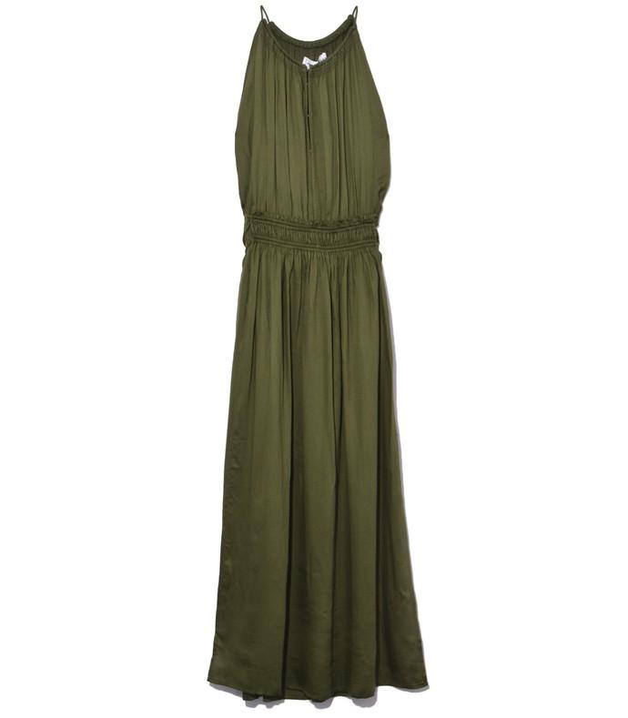 green basil liquid lippard dress