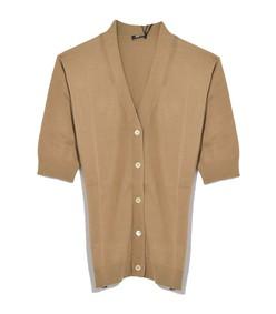 cotton cardigan in khaki