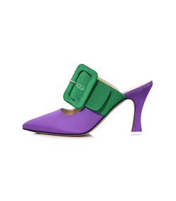 chloe mule in purple/green